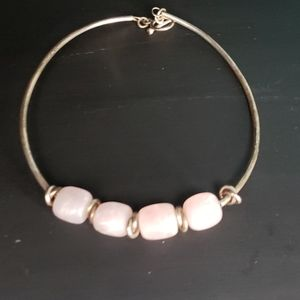 Silver and Pink Choker